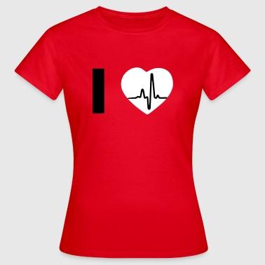 I Love - I heart  - Naisten t-paita