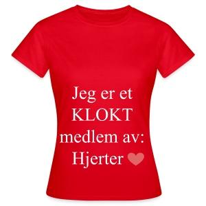 KLOKT Medlem - T-skjorte for kvinner