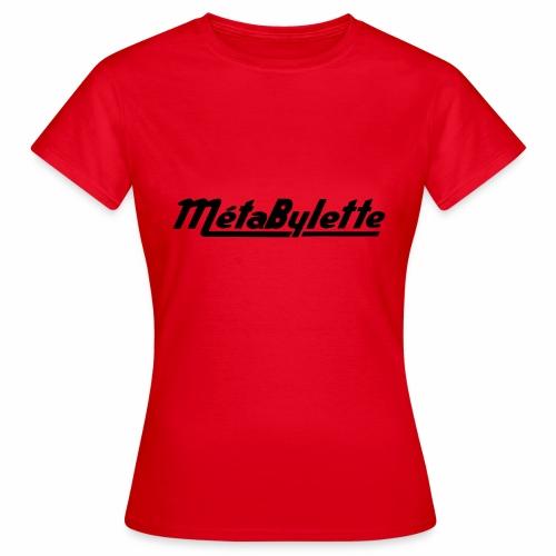 Logo MetaBylette - T-shirt Femme
