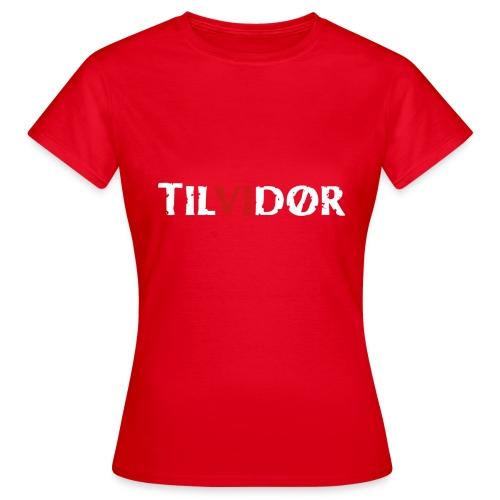 TILVIDØR LOGO - Dame-T-shirt