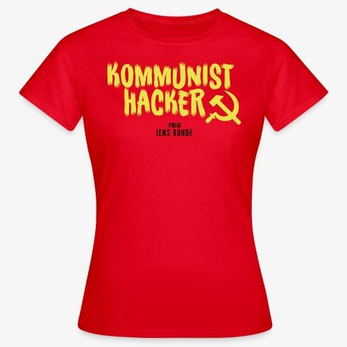 Kommunist Hacker ifølge Jens - Dame-T-shirt