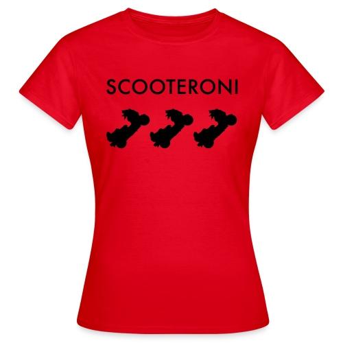 T-SHIRT SCOOTERONI BLACK - Maglietta da donna