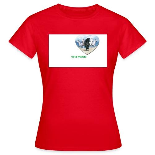 Ilove horses - T-shirt dam