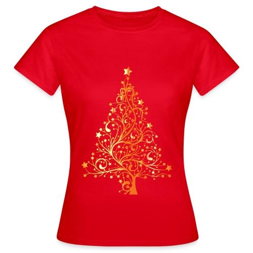 T-shirty Boże Narodzenie - Piękna choinka - Koszulka damska