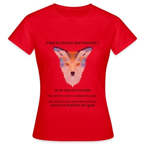 Stop chasse renard - T-shirt Femme