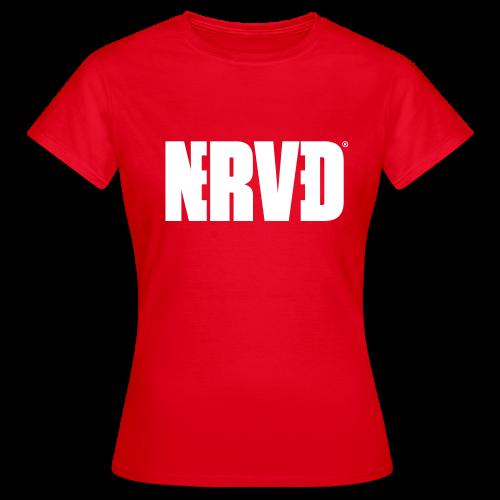 Official Nerved@ White Logotype - Women's T-Shirt
