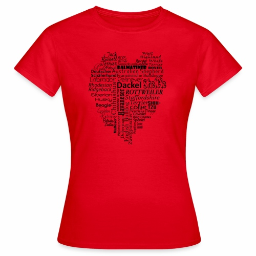 Hundeherz - Frauen T-Shirt