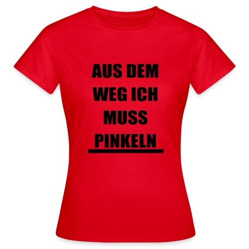 PINKELN schwarz - Frauen T-Shirt