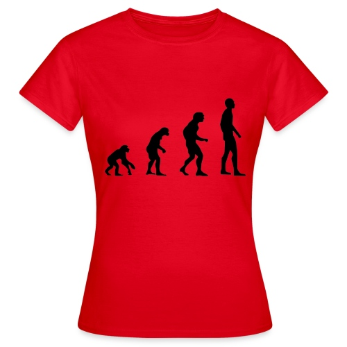 Du singe a l'homme - T-shirt Femme