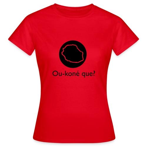 Logo Ou-koné que? - T-shirt Femme
