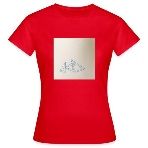 triangles bleu - T-shirt Femme