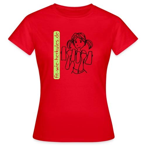 fitwieherkules.de Logo-Shirt - Frauen T-Shirt