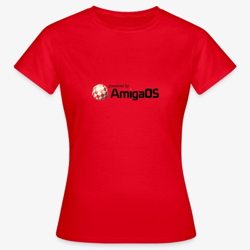 PoweredByAmigaOS Black - Women's T-Shirt