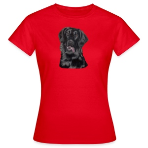 flatcoated retriever p - Dame-T-shirt