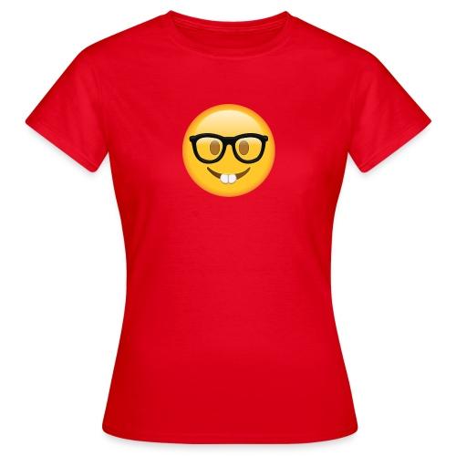 Nerd with Glasses Emoji - Women's T-Shirt