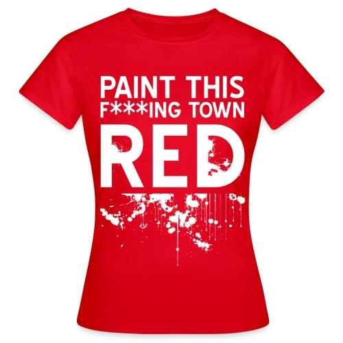 red - T-skjorte for kvinner