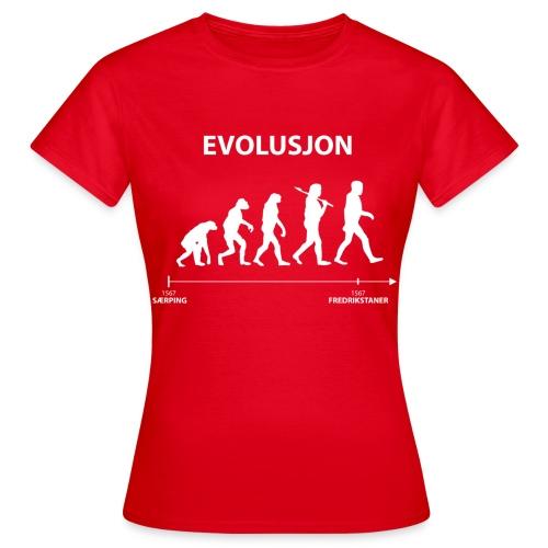 evolusjon - T-skjorte for kvinner