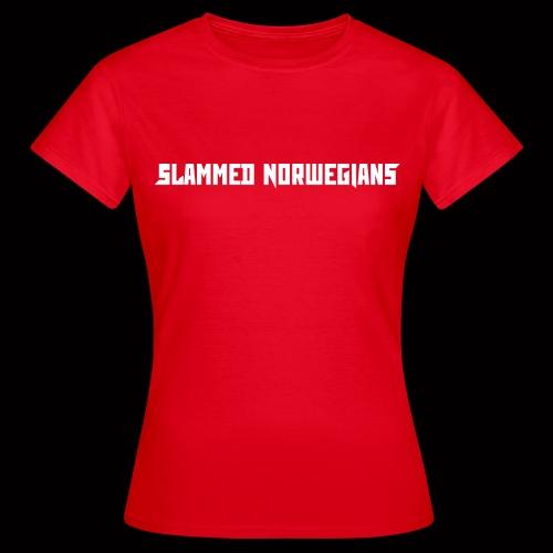 slammednorwegians - T-skjorte for kvinner
