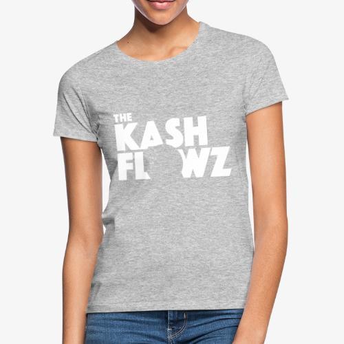 The Kash Flowz Official Logo White - T-shirt Femme