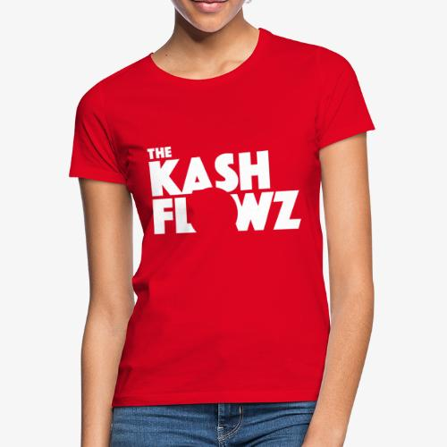 The Kash Flowz Official Logo White - T-shirt Femme