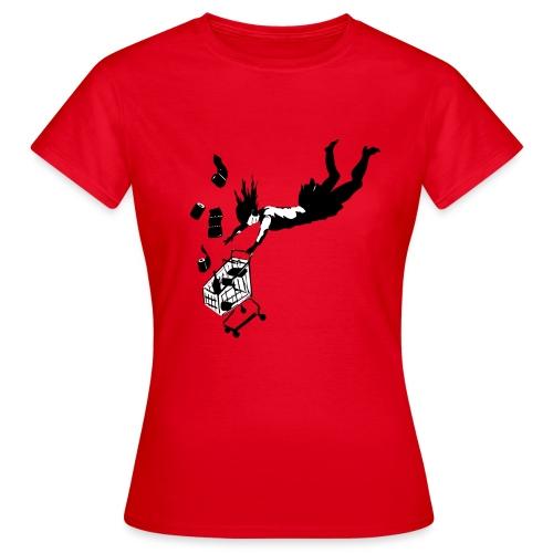 Covid-19 shopping cart (utan text) - T-shirt dam
