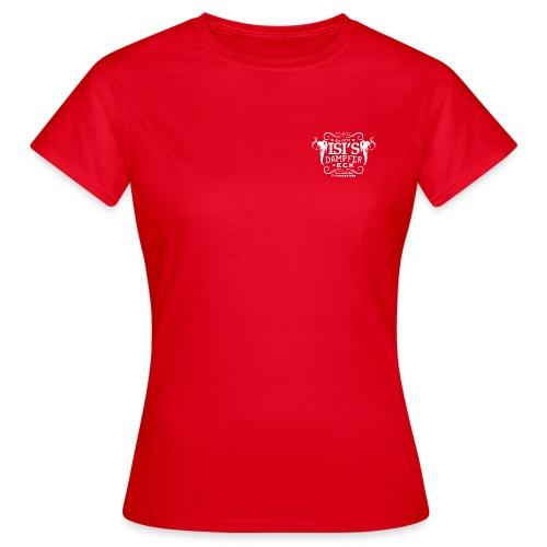 logo transparent weiss Isi's Dampfer-Eck Wurzen - Frauen T-Shirt