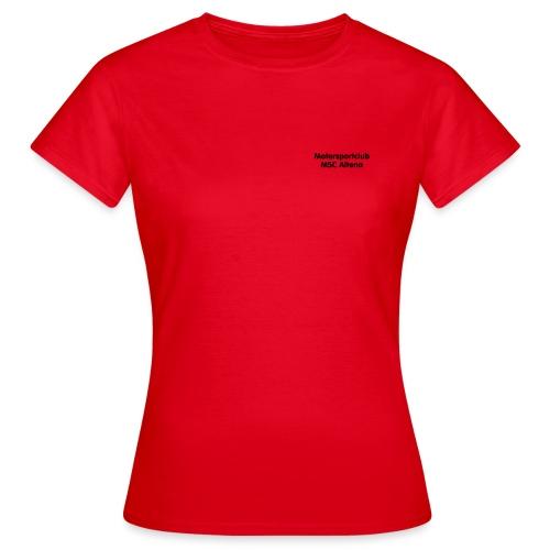 msc_70mm_text_ws - Frauen T-Shirt