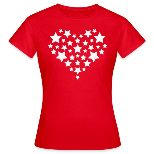 Star heart - Vrouwen T-shirt