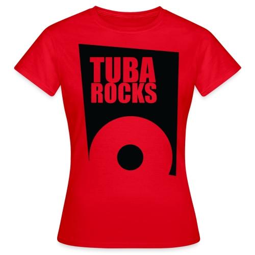 tuba rocks 3 - Vrouwen T-shirt
