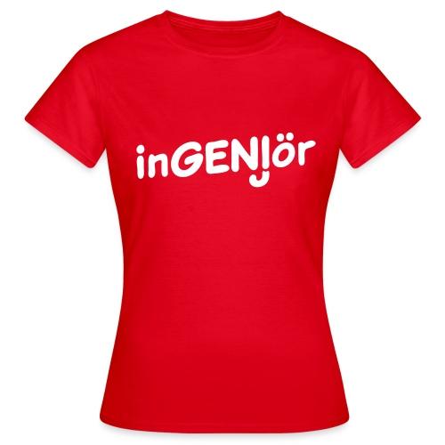 Ingenjör geni, från Sveriges plagga - T-shirt dam