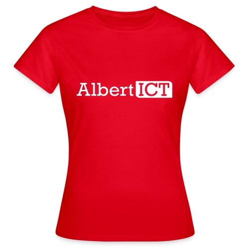 AlbertICT wit logo - Vrouwen T-shirt