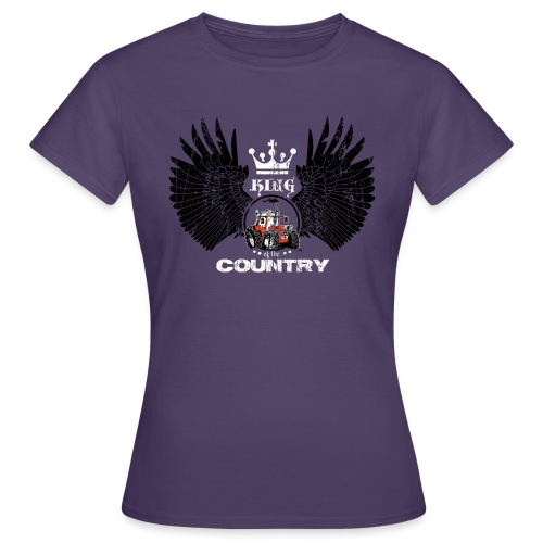 WINGS King of the country zwart wit op rood - Vrouwen T-shirt