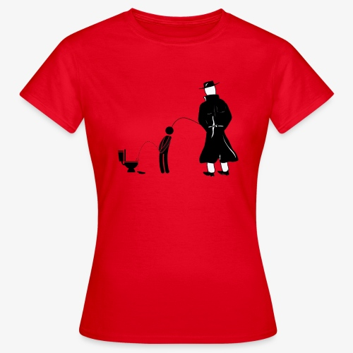 """Pissing Man against """"I can not piss properly guy"""" - Frauen T-Shirt"""