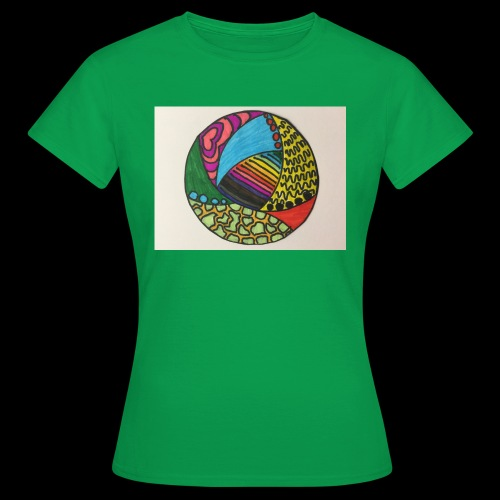 circle corlor - Dame-T-shirt