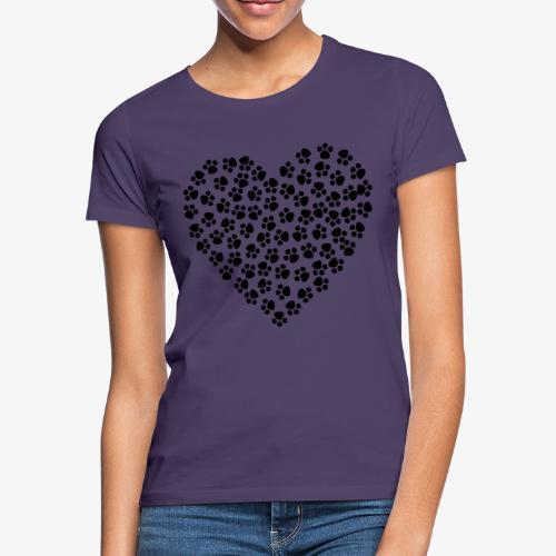 coeur empreinte de chien - T-shirt Femme