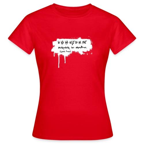 citation snoop noir - T-shirt Femme