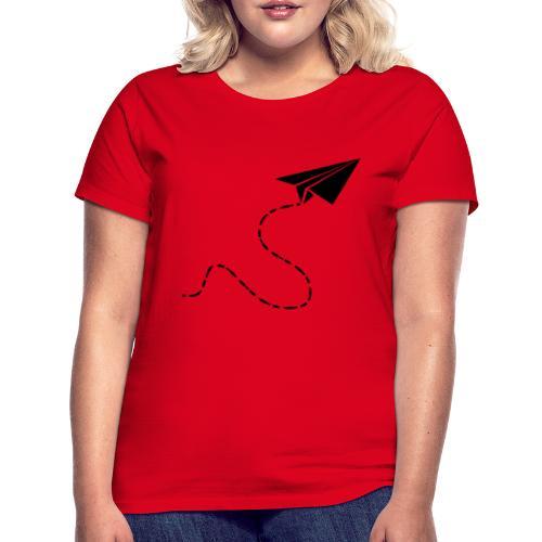 Avión de papel - Camiseta mujer