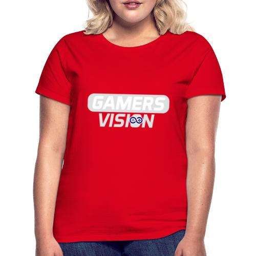 GamersVisionlogo Grijs - Vrouwen T-shirt