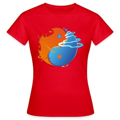 Ying-yang feu et glace - T-shirt Femme