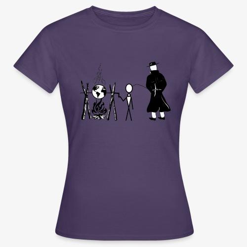 Pissing Man against human self-destruction - Frauen T-Shirt
