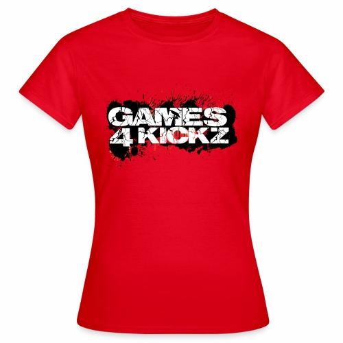 Games4Kickz Logo Splattered Background - Women's T-Shirt