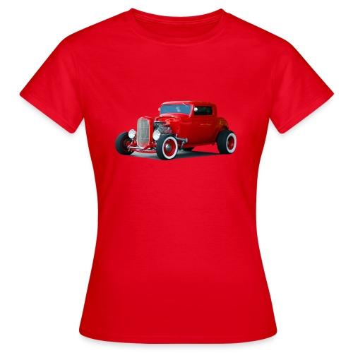 Hot rod red car - Vrouwen T-shirt