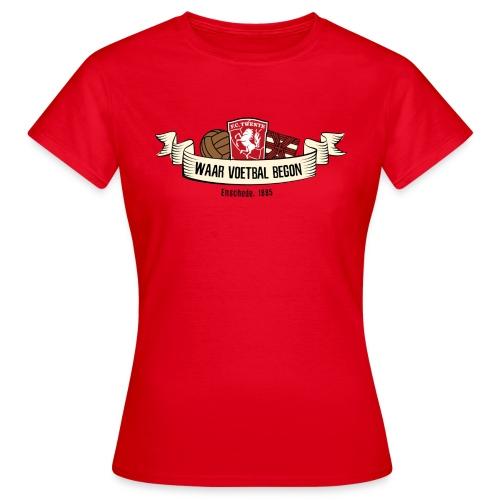 waar voetbal begon - Vrouwen T-shirt