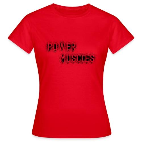 Aufschrift schwarz - Frauen T-Shirt