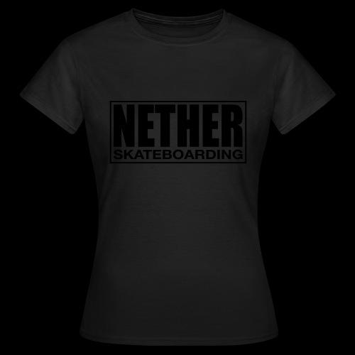Nether Skateboarding T-shirt White - Maglietta da donna
