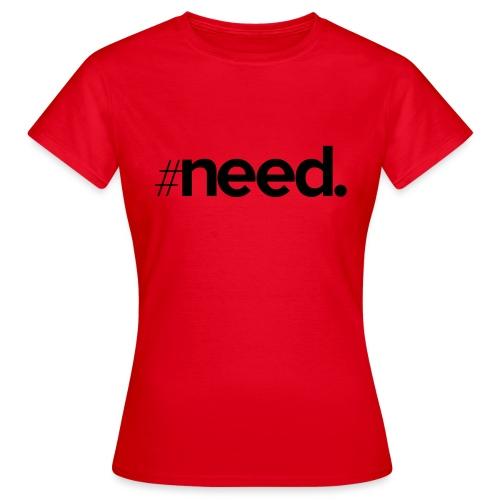 logo need official black - T-shirt Femme