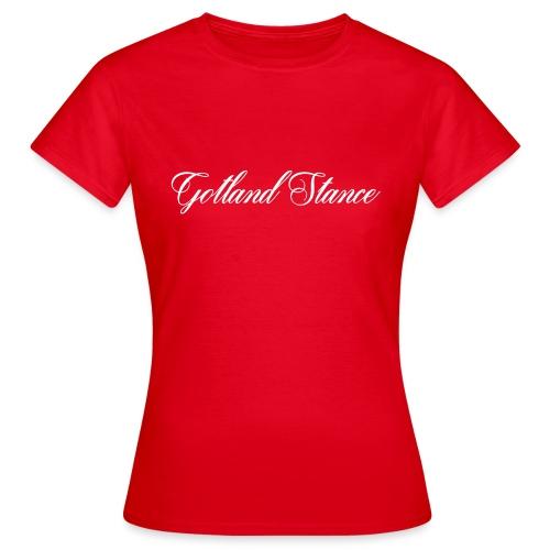 Gotland Stance vit - T-shirt dam