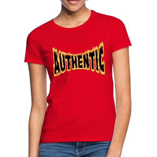 authentic on fire - Camiseta mujer