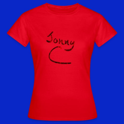 Jonny C Red Handwriting - Women's T-Shirt