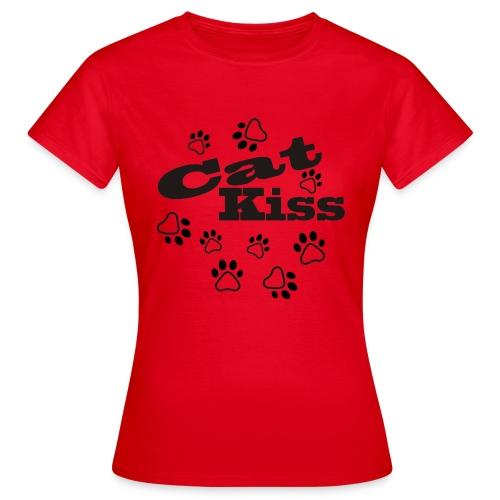 cat kiss pot - Camiseta mujer